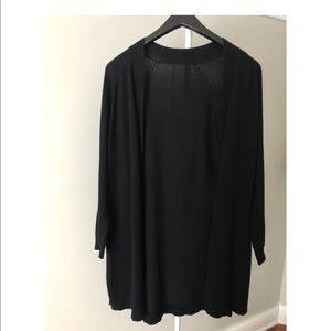 Sweaters - Black cardigan long side slits